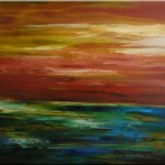 Art Original Abstract Landscape Painting Acrylic Canvas Sold
