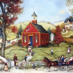 Art Painting Americana Villages And Country Life