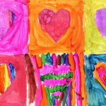 Art Projects For Glitter Heart Painting