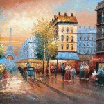 Art Reproduction Oil Painting Famous Cities The French Afternoon
