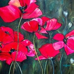 Art Sometimes Daily Painting Journal Red Poppies Oil