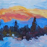 Art The Mountain Colorful Colorado Landscape Paintings Fine