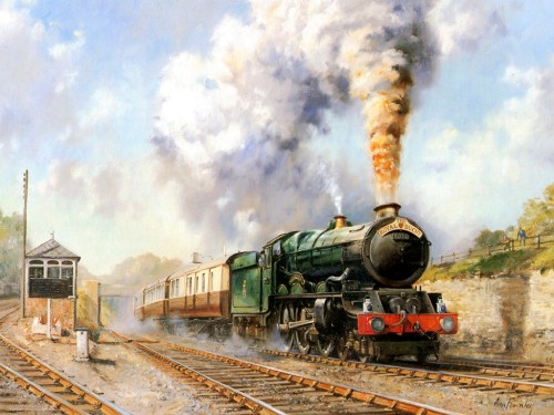Art Train Journeys Railroad Steam Paintings