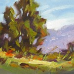 Art Trees Mountains Inch Impressionist Landscape Oil Painting