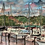 Art Watercolor Acrylic And Oil Paintings Sailboat Painting Nautical