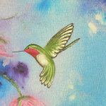 Artful Creations Essence Acrylic Hummingbird Painting