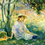 Artist Berthe Morisot Painting Under The Orangetree