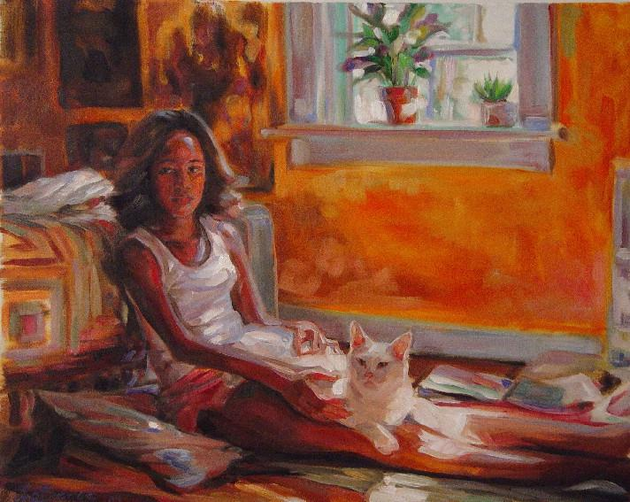 Artist Mia Laberge Oil Painting Painterly Realism