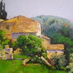 Artists Now Emerging European Village Oil Painting Chris