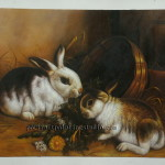 Artists Paint Rabbit Portrait
