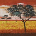 Artists Serengeti Dawn Paintings For Sale Oil