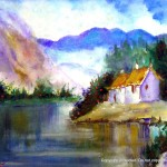 Artscanyon Gallery Two Watercolor Landscape Paintings