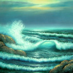 Artwork New Ocean Wave Seascape Oil Painting Artist