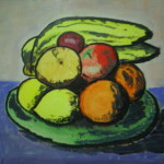 August Painting Project Still Life Fruit Bowl Ruth