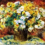 Auguste Renoir French Impressionist Painting Chrysanthemums