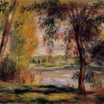 Auguste Renoir Trees The Water Painting Pierre