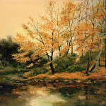 Autumn Gold Painting Ira Rom Lorenz Fine Art Prints