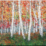 Autumn Symphony Colours Original Art Abstract Paintings