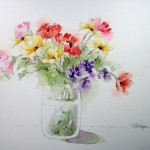 Available Watercolors Roseann Hayes Floral Watercolor Painting
