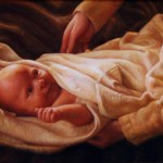 Baby Jesus Christ Hand Painted Oil Painting