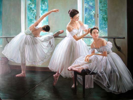 Ballet Dancer Painting Brw China Oil Paintings