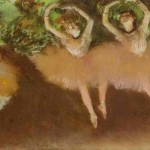 Ballet Scene Pastel Monotype Whereabouts Unknown