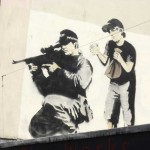 Banksy Graffiti Street Art Sniper And Boy Amazing