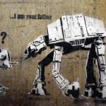 Banksy Your Father Canvas Painting Iconic Art
