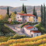 Barbara Felisky Vineyard Autumn Tuscany Art Painting Off