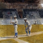 Baseball Players Practicing Thomas Eakins Oil Painting