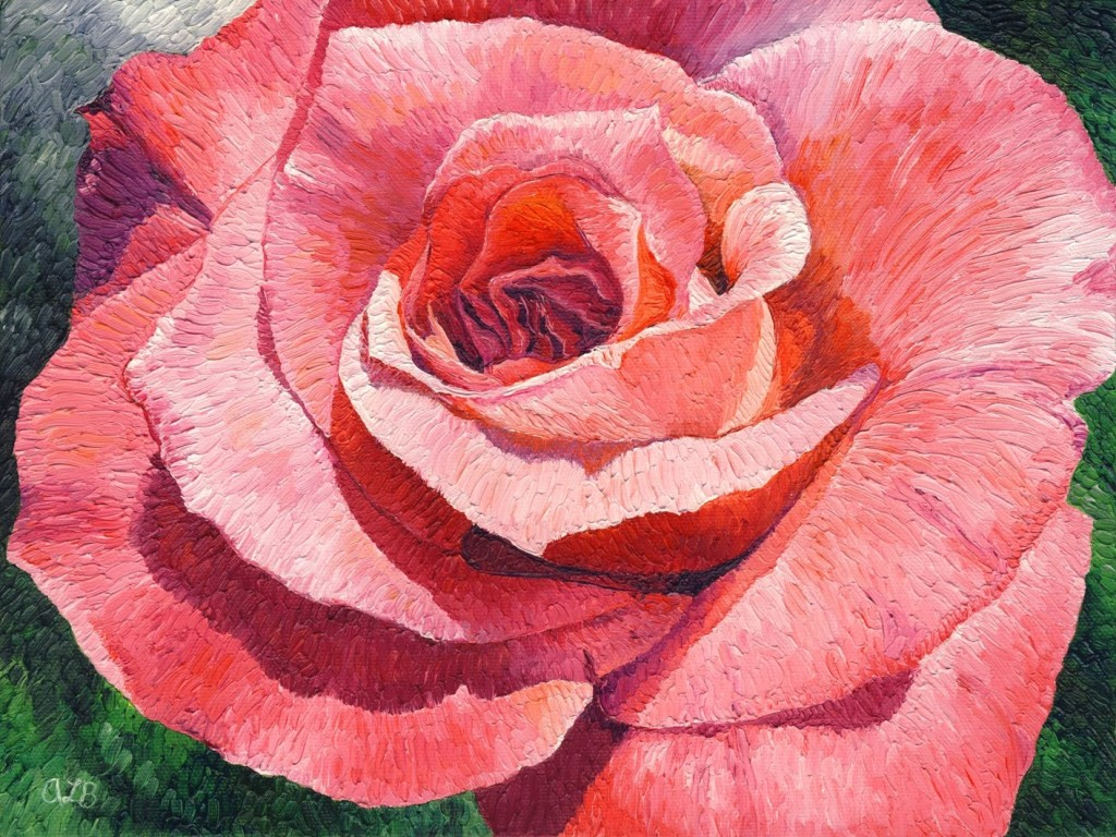 Based How Popular Other Pink Rose Painting Was The Downtown