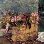 Basket Flowers Painting Paul Gauguin