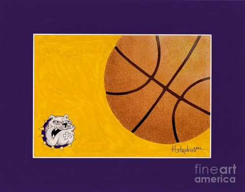 Basketball Painting Ranburn Lady Bulldogs Fine Art Print