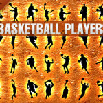 Basketball Players Silhouettes Sport Game