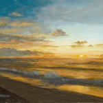 Beach Sunrise Painting John Brown Fine Art Prints