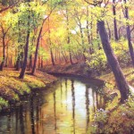 Beautiful Creative Water Color Paintings Glass