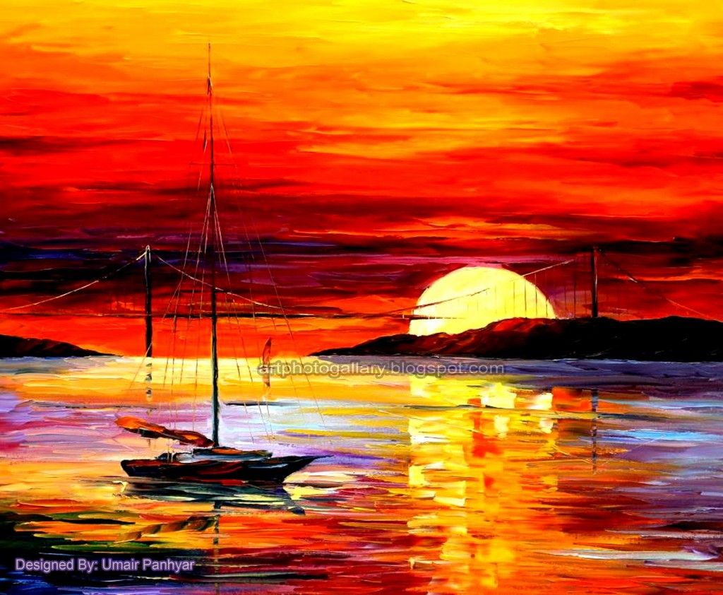 Beautiful Sunset Painting Colors And Idea Creating This
