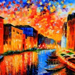 Beautiful Vibrant Cityscape Oil Painting From Fineproart Gallery