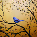 Bird Art Painting Lonely Night Amy Giacomelli Fine