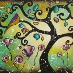 Bird Paintings Whimsical Tree Art Hjmartgallery Etsy