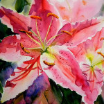 Birthday Lilies Painting Ruth Harris Fine Art