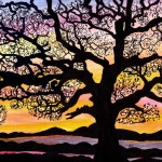Black Tree Painting Fine Art Print