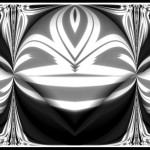 Black White Abstract Fold Tenby