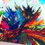 Bliss Abstract Expressionism Splatter Painting Brianmossart