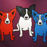 Blue Dog George Rodrigue Split Personality