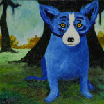 Blue Dog Prints