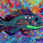 Blue Fish Painting Paintings Gretzky Fine Art Prints