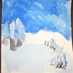 Blue Monochromatic Painting