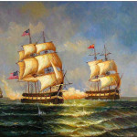 Boats And Ships Oil Painting Battle Sea Cheap Paintings