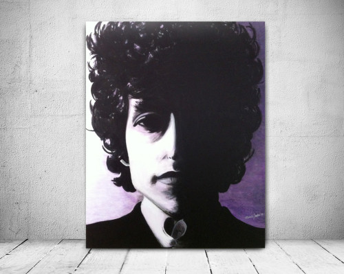 Bob Dylan Painting Pop Art Portrait Virsitil